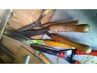 Various Garden shears