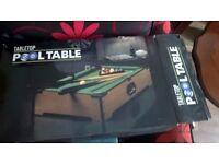 Tabletop Pool Table ''20''