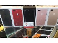 APPLE IPHONE 7+PLUS 256GB UNLOCKED RED BRAND NEW SEAL BOXED 12 MONTH APPLE WARRANTY &