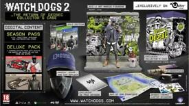 Watch_dogs 2 return of dedsec limited edition collectors case ps4. Brand new.