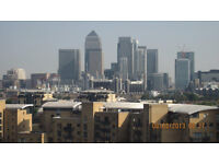 Luxury 10th floor, three bedroom penthouse with stunning views of Canary Wharf and the river.