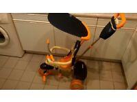 Smartrike child's tricycle - orange/cream