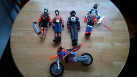 Action men and motorbike