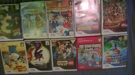 10 wii games inc. mario, lego and star wars