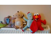 In The Night Garden and Jellycat soft toys