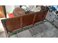 Double bed frame ( Vintage -Retro 1940's ) good condition for age ( NO SMS / TEXTS )