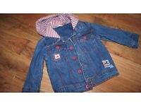 Baby boy's hooded jeans jacket 12-18 months