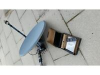 Motorised sat dish and media link box