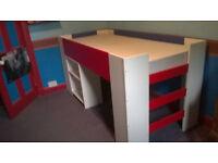 """Ikea """"Lejon"""" Cabin Bed with Desk"""