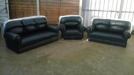 Leather 3 piece suite 3+2+1 sofas and armchair, Brand New and unused, still packed, can deliver.