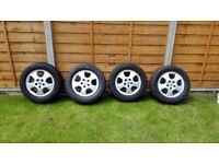 4x Vauxhall alloy wheels with tyres 195/65/R15 - 5 studs