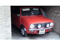Classic 1972 Mini Convertible.