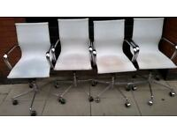 Four contemporary classic style swivel chairs excellent central London bargain