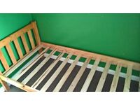 Single wooden bed Great condition See pics Collection only