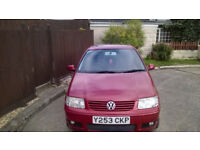 VW POLO 1.4 SE 62000 MILES FROM NEW with new MOT