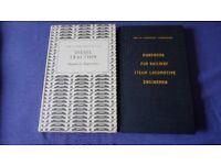 BR BRITISH RAIL DIESEL TRACTION ENGINEMEN + HAND BOOK STEAM LOCOMOTIVE ENGINEMEN