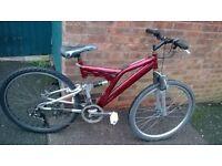 """men's red bike 26"""" wheels"""