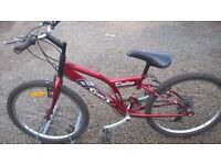 TEENAGER /SMALL ADULT MOUNTAIN BIKE 24 INCH ALLOY WHEELS FULLY ADJUSTABLE