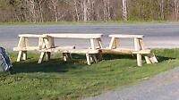 Live edge solid wood heavy duty outdoor benches - $75-$150