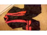 Xxxl motor bike waterproof suit black and red