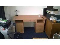 Large Beech Effect Desk