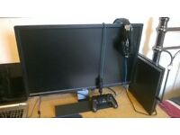 PS4 and monitor plus game. cheap