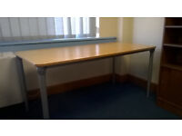 Desk Work Table - 160x80cm, very sturdy with adjustable height and easy assembly (needs no tools)