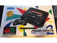 BRAND NEW SEGA MEGADRIVE 2 RARE!! PLUS 4 NEW GAMES!