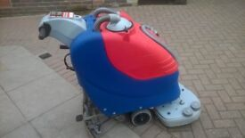 Contractor Cleaning Floor Cleaning Scrubber Ruby 55