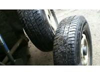 Ford transit wheels with brand new tyres 215/75R16c