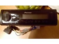 Pioneer MVH-180UI car stereo with usb port,very short time used,like new for sale.