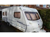 2005 ace supreme Sunstar twin axle 5/6 berth caravan