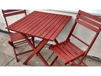 Garden 3 Piece Garden Patio Furniture Bistro Set Table & 2 Chairs