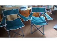 Quechua Arpenaz Camping Chair - Foldable - Green (x2)
