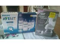 Manual breast pump, bottles,steriliser