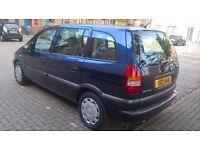 Vauxhall zafira, 7 seater, 1.6 litre, 2001, Mot June 2017