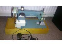 Alfa Semi-Industrial Sewing Machine Heavy Duty Rare Motor Craft Old Style