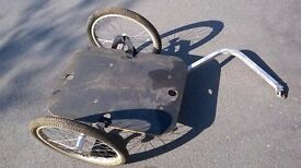 """Used Carry Freedom Y bike trailer large 20"""" wheel with fitted box"""