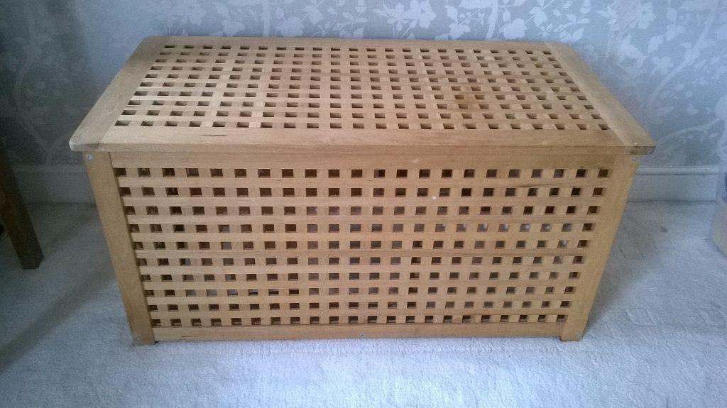 Ikea wooden Ottoman / storage unit / toy box - Ikea Wooden Ottoman / Storage Unit / Toy Box In West Bridgford