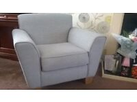 Grey 3 seater Sofa and one Armchair