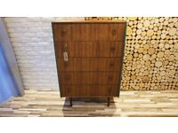 DANISH STYLE CHEST OF DRAWERS,SIDEBOARD VINTAGE ,RETRO, SHABBY CHIC (FREE DELIVERY)