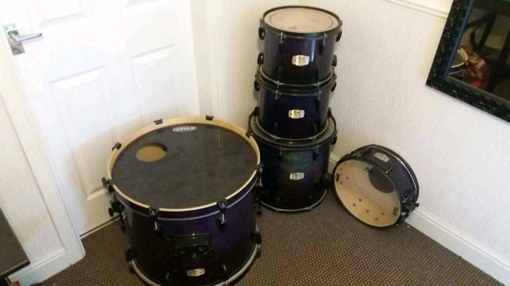 Pearl Export Elx Shell Pack Full Drum Kit In Purple Fade