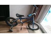 """star wars bike 14"""" wheels with stabilisers"""