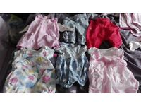 Baby Girl 0-3 month clothes, blankets and sleeping bags - whole wardrobe for this age