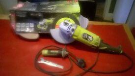 "Ryobi 2000w 9"" Angle Grinder - Spares or Repair"