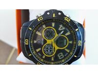 mortima chronograph alarm sports watch solid lump