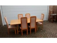 solid oak dining table cheers and side board