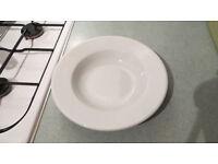 set of 6 Porcelite professional soup and pasta plates