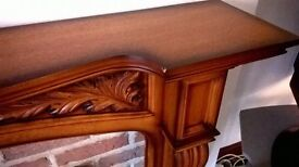Fire Surround Mahogany Effect