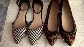 LADIES SHOES SIZE 7 NEW LOOK AND ACCESSORIZE BOTH NEW/TAGS ONLY £10 FOR BOTH PAIRS! GORGEOUS!